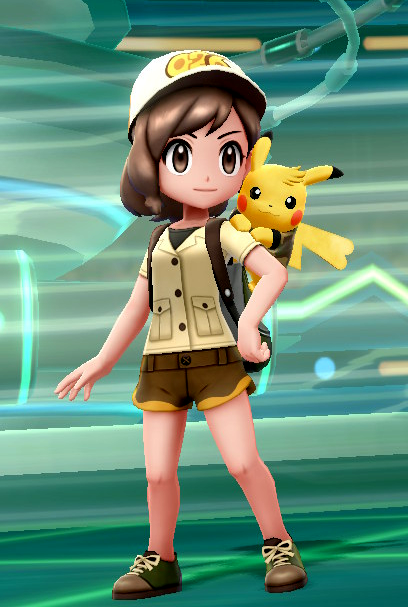 Pokemon Let's Go! Pikachu Trainer Tabby + Chu. #026 Raichu + Safari Zone Outfit