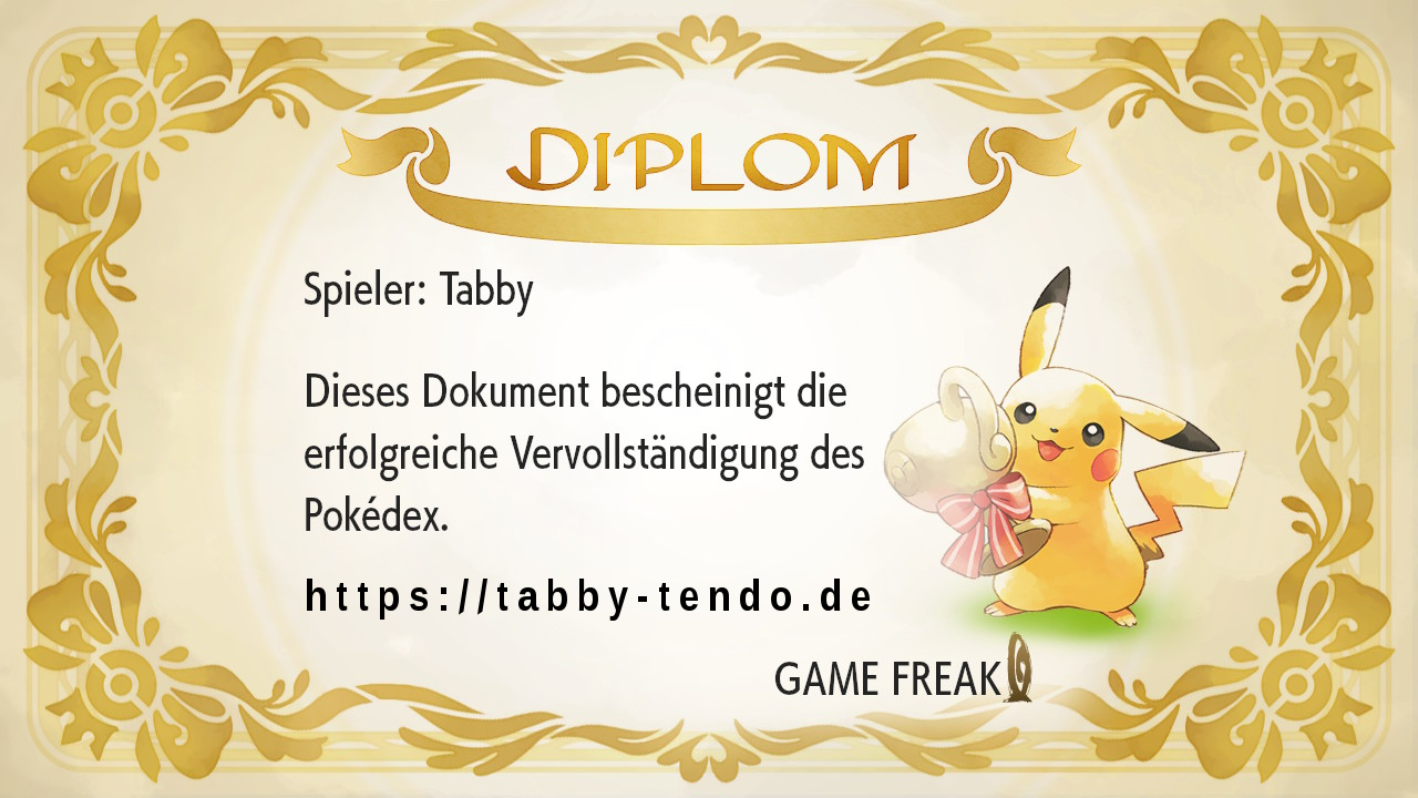 Pokémon Let's Go! Pikachu Game Freak PokéDex Diplom Kanto